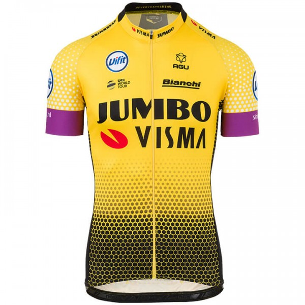 2019 TEAM JUMBO-VISMA Short Sleeve Jersey - Professional Cycling Team