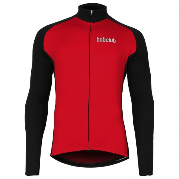 BOBCLUB Long Sleeve Jersey black - red For Men