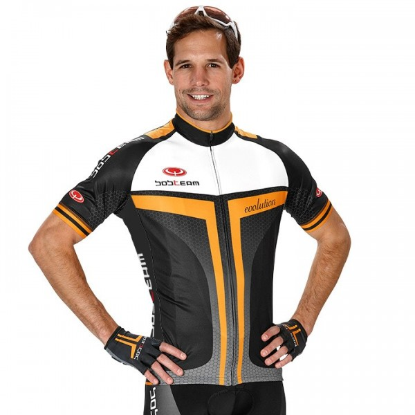 BOBTEAM EVOLUTION 2.0 Short Sleeve Jersey black-orange For Men