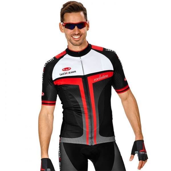 BOBTEAM EVOLUTION 2.0 Short Sleeve Jersey black-red black - red For Men
