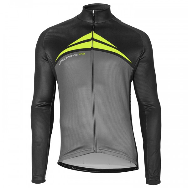 BOBTEAM PERFORMANCE LINE Long Sleeve Jersey neon yellow - grey - black - multicoloured For Men