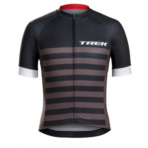 BONTRAGER Specter Trek Black Short Sleeve Jersey Stripes grey - black For Men