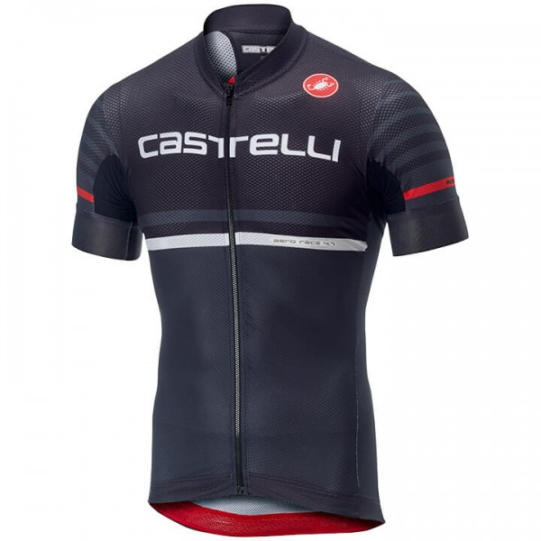 CASTELLI Free AR 4.1 Short Sleeve Jersey grey - black For Men