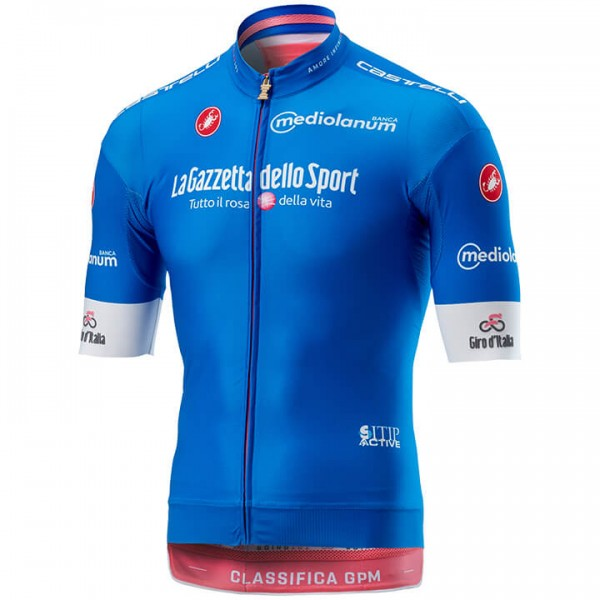 2018 GIRO D'ITALIA AZZURA Race Short Sleeve Jersey - Professional Cycling Team