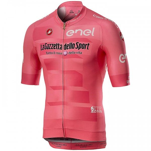 2019 GIRO D'ITALIA Maglia Rosa Short Sleeve Race Jersey - Professional Cycling Team