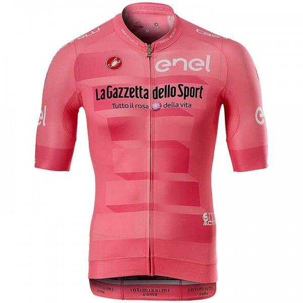 2019 GIRO D\'ITALIA Maglia Rosa Short Sleeve Race Jersey - Professional Cycling Team