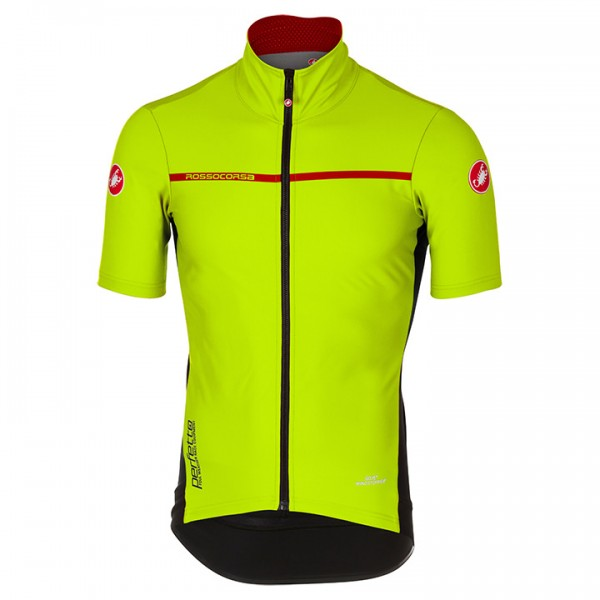 CASTELLI Perfetto 2 Short Sleeve Light Jacket neon yellow For Men