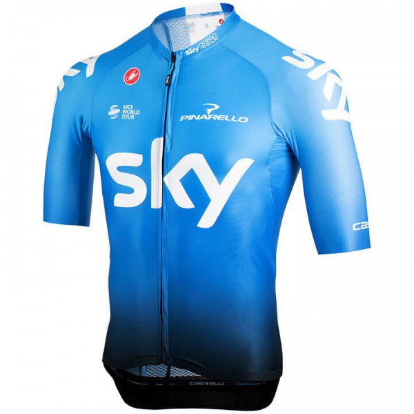 2019 Team Sky Aero Training Short Sleeve Jersey - Professional Cycling Team