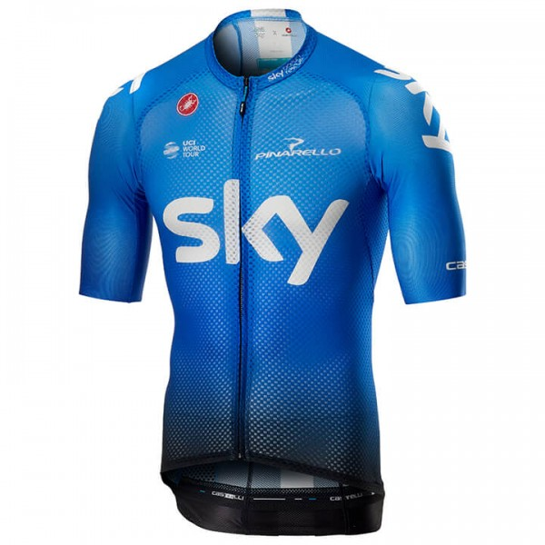 2019 Team Sky Climber's Training Short Sleeve Jersey - Professional Cycling Team