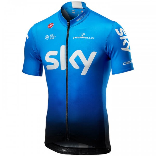 2019 Team Sky Fan Training Short Sleeve Jersey - Professional Cycling Team
