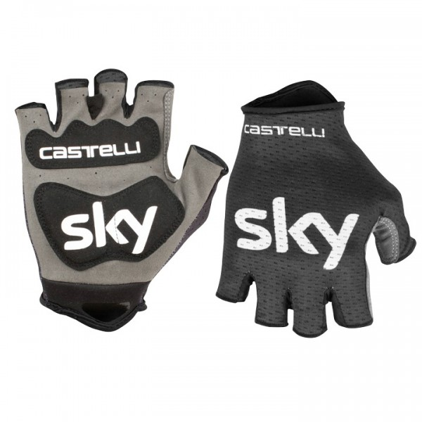 2019 Team Sky Track Cycling Gloves - Professional Cycling Team