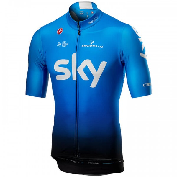 2019 Team Sky Training Short Sleeve Squadra Jersey - Professional Cycling Team