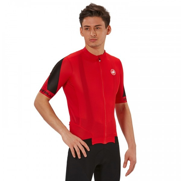 CASTELLI Volata 2 Short Sleeve Jersey black - red For Men