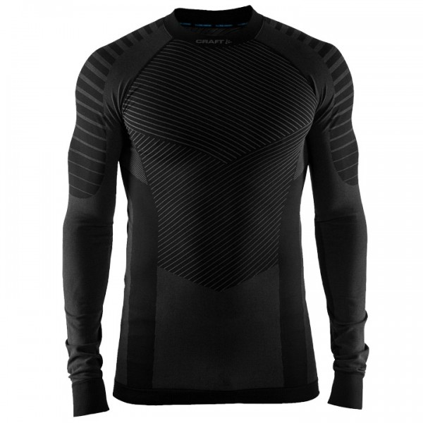 CRAFT Active Intensity Long Sleeve Base Layer grey - black For Men