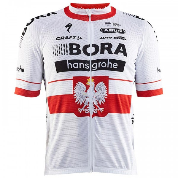 2017 BORA-hansgrohe Short Sleeve Jersey Polish Champion - Professional Cycling Team