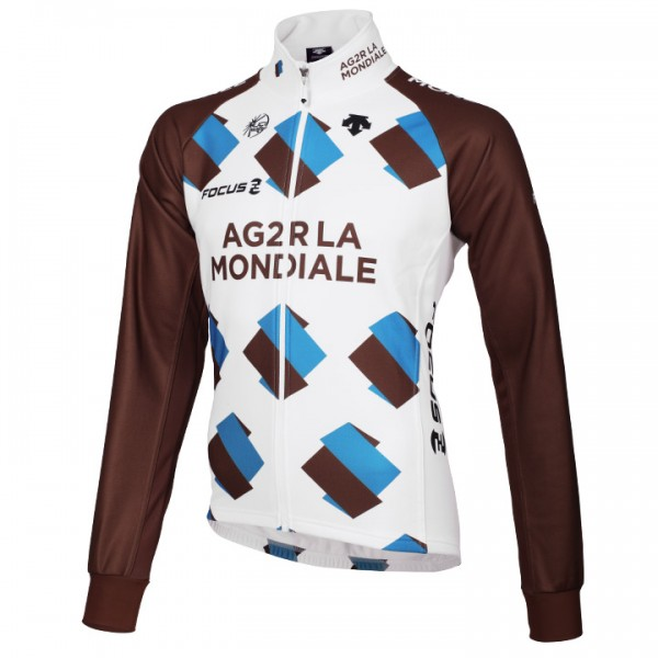 2014 AG2R LA MONDIALE Thermal Jacket - Professional Cycling Team