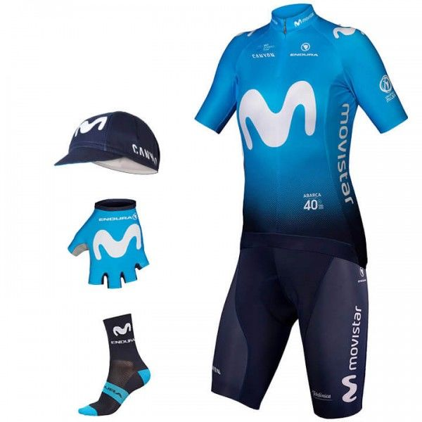 2019 MOVISTAR TEAM Maxi-Set (5 pieces) - Professional Cycling Team