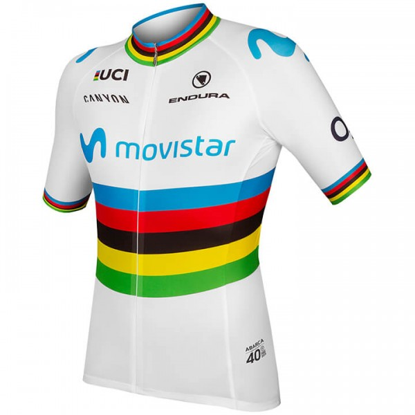 2019 MOVISTAR TEAM Short Sleeve Jersey World Champion - Professional Cycling Team