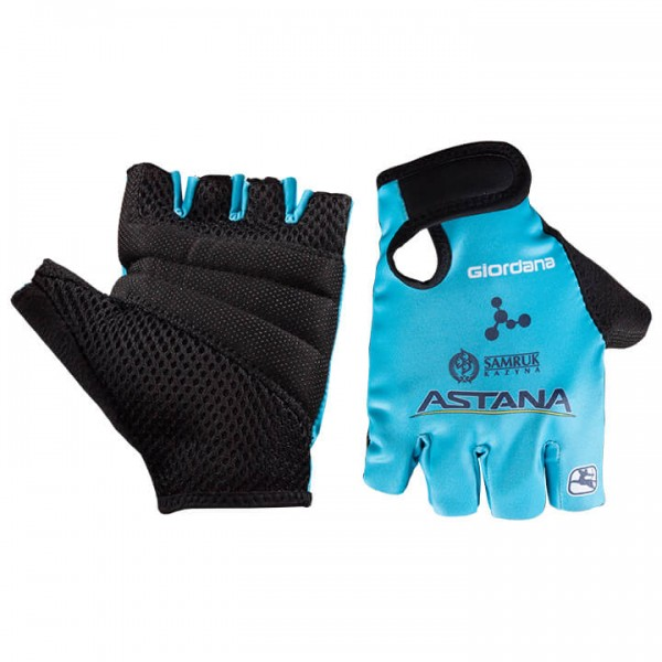 2018 ASTANA PRO TEAM Cycling Gloves - Professional Cycling Team