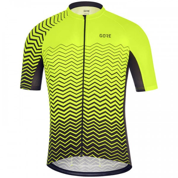 GORE C7 Short Sleeve Jersey black - yellow For Men
