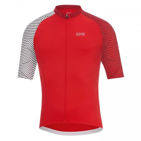 GORE Optiline Short Sleeve Jersey white - red For Men