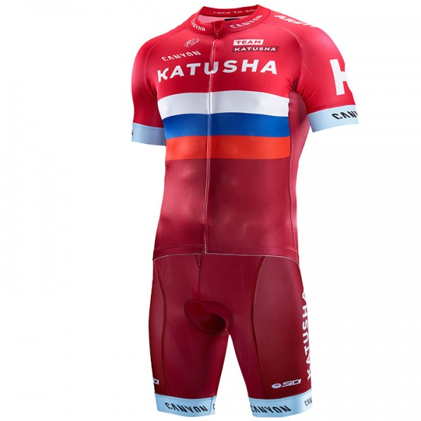 2016-2017 TEAM KATUSHA Russian Champion Set (2 pieces) - Professional Cycling Team