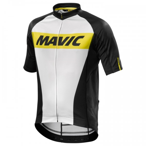 MAVIC Cosmic Short Sleeve Jersey, white-black For Men