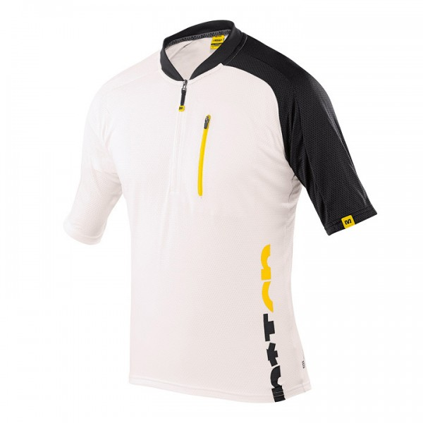 MAVIC Notch Graphic MTB Short Sleeve Jersey white-black For Men