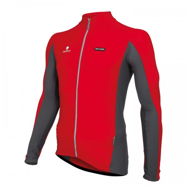 Nalini Basic Smeraldo Long Sleeve Jersey red For Men