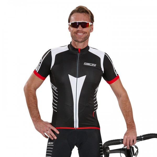 NALINI PRO Red Short Sleeve Jersey, black-white-red For Men