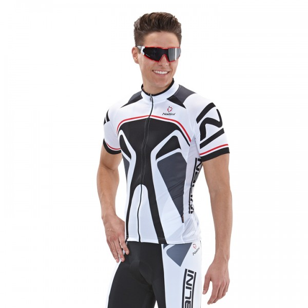NALINI PRO Salorno Short Sleeve Jersey white-black For Men
