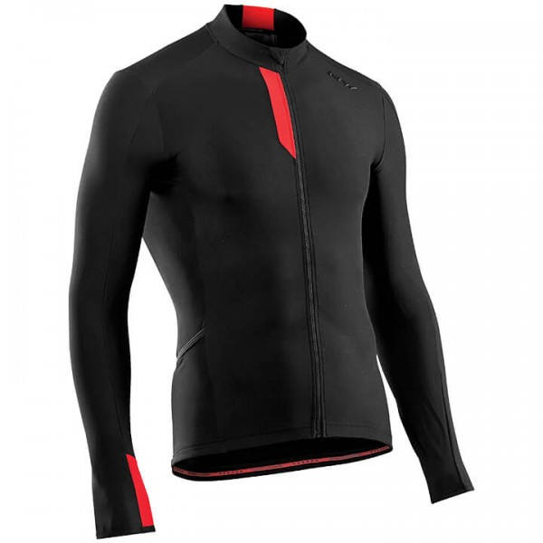 NORTHWAVE Fahrenheit Long Sleeve Jersey black - red For Men