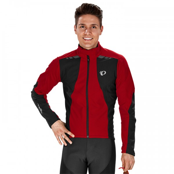 PEARL IZUMI P.R.O. Softshell 180 Winter Jacket, red-black For Men