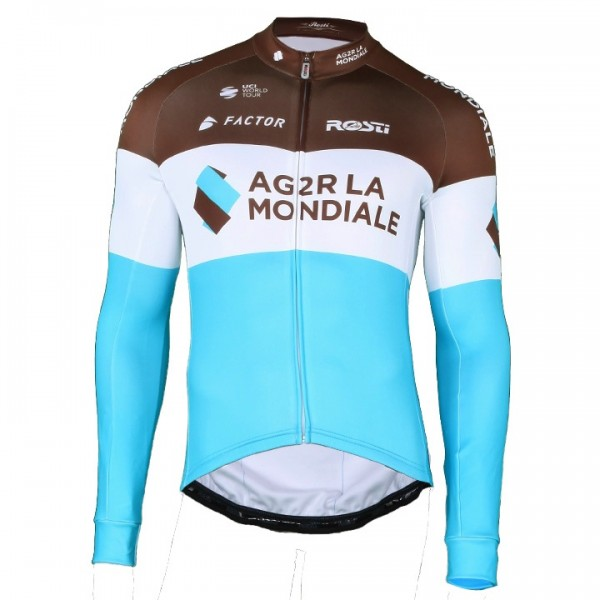 2018 AG2R LA MONDIALE Long Sleeve Jersey - Professional Cycling Team