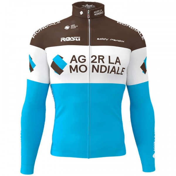 2019 AG2R LA MONDIALE Long Sleeve Jersey - Professional Cycling Team