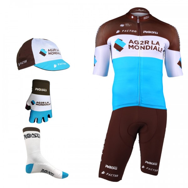 2018 AG2R LA MONDIALE Pro Race Maxi-Set (5 pieces) - Professional Cycling Team