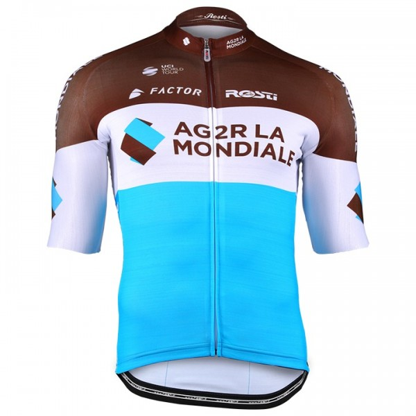 2018 AG2R La Mondiale Pro Race Short Sleeve Jersey - Professional Cycling Team