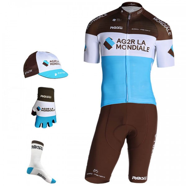 2019 AG2R LA MONDIALE Pro Race Maxi-Set (5 pieces) - Professional Cycling Team