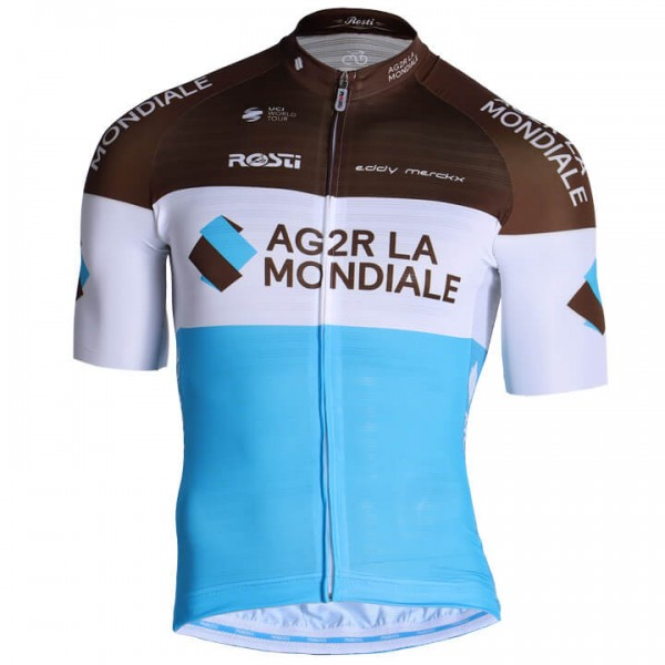 2019 AG2R La Mondiale Pro Race Short Sleeve Jersey - Professional Cycling Team