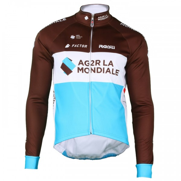 2018 AG2R LA MONDIALE Thermal Jacket - Professional Cycling Team