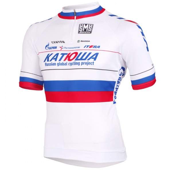 KATUSHA Short Sleeve Jersey National Champion Russia 2012-2013 - Professional Cycling Team
