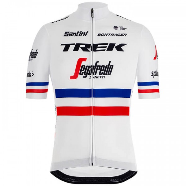2019 Trek-Segafredo French Champion Short Sleeve Jersey - Professional Cycling Team