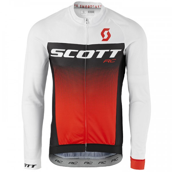 SCOTT RC Pro Long Sleeve Jersey white - black - red - multicoloured For Men