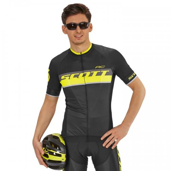 SCOTT RC Pro Short Sleeve Jersey black - yellow For Men