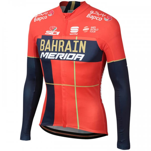 2019 BAHRAIN-MERIDA Long Sleeve Pro Jersey - Professional Cycling Team