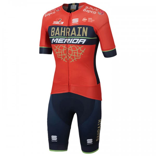 2018 BAHRAIN - MERIDA Pro Race Set (2 pieces) - Professional Cycling Team