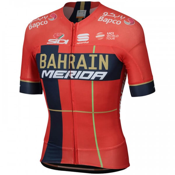 2019 BAHRAIN-MERIDA Pro Race Short Sleeve Jersey - Professional Cycling Team