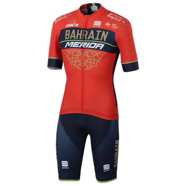 2018 BAHRAIN - MERIDA Pro Team Set (2 pieces) - Professional Cycling Team