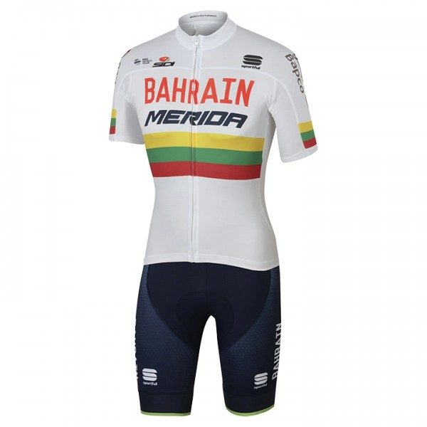 2017 BAHRAIN-MERIDA Set (2 pieces) Lithuanian Champion - Professional Cycling Team