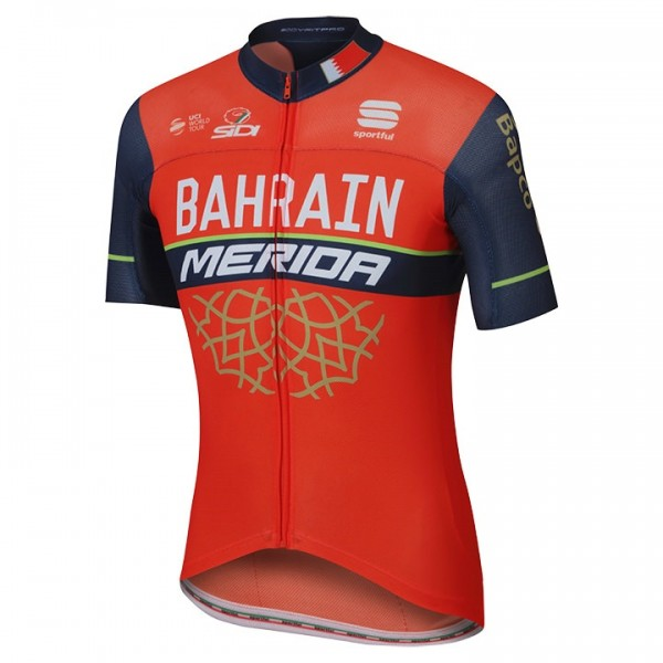 2017 BAHRAIN MERIDA Short Sleeve Jersey Pro Race - Professional Cycling Team